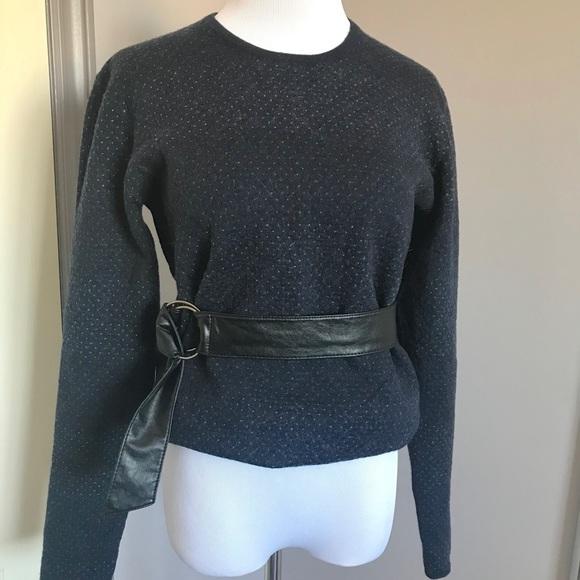 Frank & Oak Merino Polka Dot Sweater